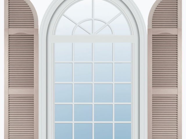 Louver Shutters with Quarter Round Louver Archtop