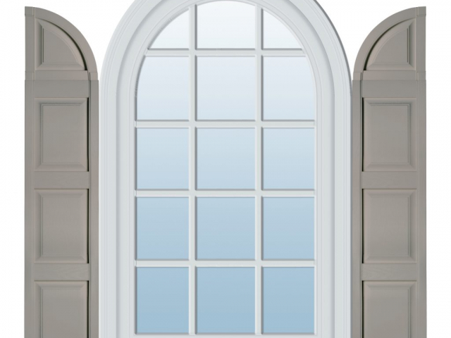 Specialty Panel Shutters with Quarter Round Archtop