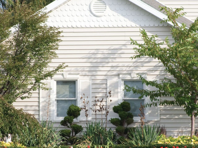 Louver Shutters, Flat Panel Window Header, Round Gable Vent