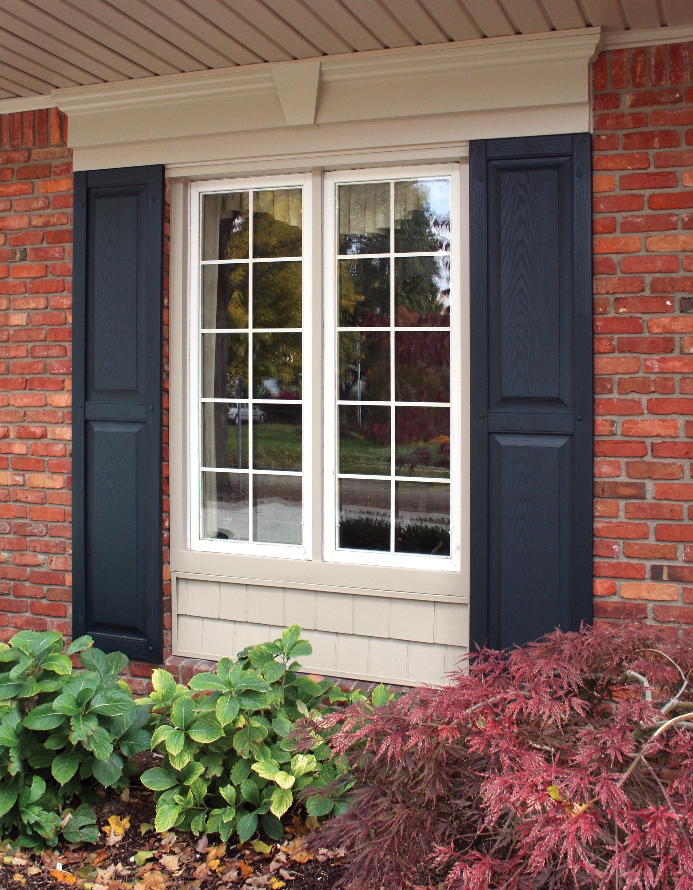 Panel Shutters, Flat Panel Window Header